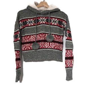 Yet Again Nordic sweater with fleece lined hood
